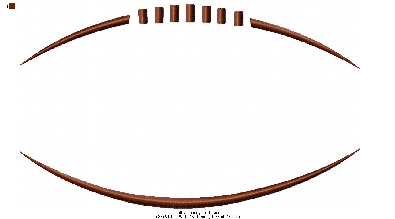 monogram frame part number football monogram frame your price