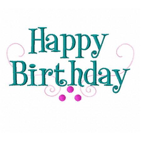Part Number #52 Happy Birthday Font