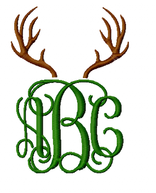 Antler Toppers for use with Monogram font