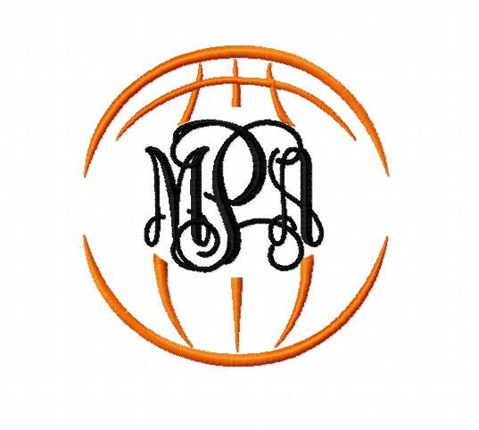 basketball monogram frame - Monogram Frame