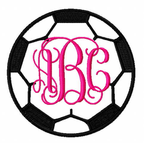 Soccer Ball Monogram Frame p 683 on log home design free download