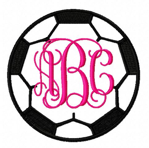 soccer ball monogram frame - Monogram Frames
