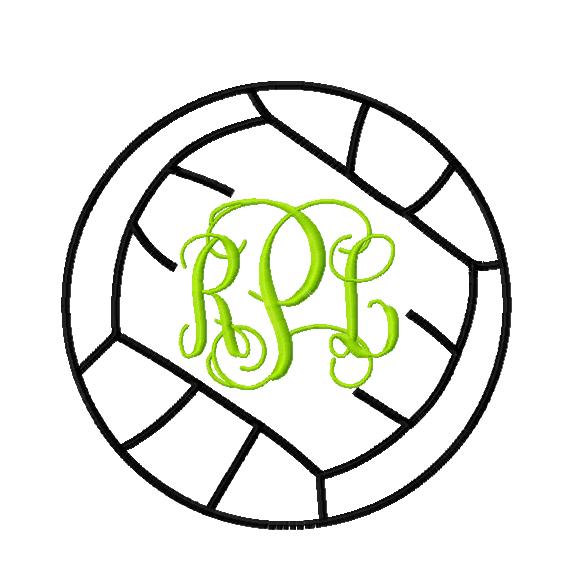 volley ball monogram frame - Monogram Frame