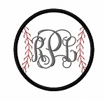Applique Baseball Monogram Frame