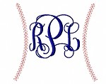 Baseball Stitching Monogram Frame 7in, 9in and 12in