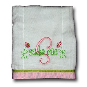 Burp Cloth with ribbon