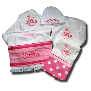 Onesie , Hat, BurpCloth, Bib & Blanket Gift Set