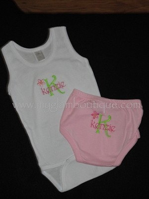 Tank Bodysuit & Diaper Cover/Bloomer Set