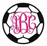 Soccer Ball Monogram Frame