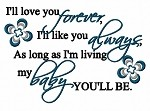 I'll love you Forever...