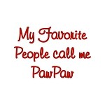 My Favorite People call me  Paw Paw SVG file